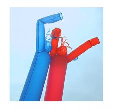 Lufttänzer blau und rot