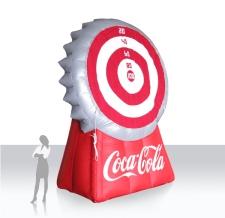 aufblasbare Sonderform Action Game Kronkorken-Dart Coca Cola