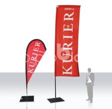 Werbeflaggen - Beach Flags - Kurier - Classic und Corner
