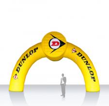 Aufblasbarer Zielbogen - Bogen Round Dunlop