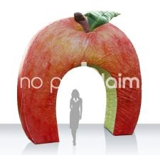Aufblasbarer Werbebogen Sonderform  Apfel