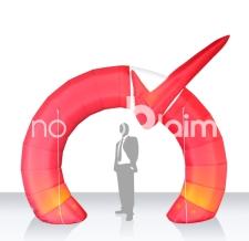 Einlauftunnel - Werbebogen Sonderform mit 3D Element