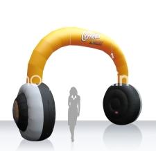 Eventbogen / Einlaufbogen - aufblasbar Kopfhörer - Bogen Sonderform Cornetto Kopfhörer
