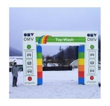 Aufblasbarer Werbebogen - Bogen Corner OMV Waschstrasse