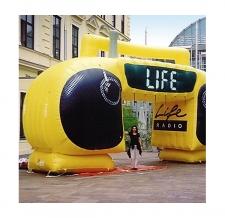 Aufblasbarer Zielbogen Radio - Bogen Sonderform Life Radio