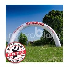 luftdichter aufblasbarer Werbebogen round - Pneu Bogen round Strabag