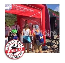 aufblasbarer Promotionstand/Promotionzelt - Pneu Zelt CUBE occitanie
