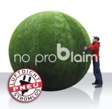Aufblasbarer Riesenball - Graskugel