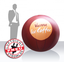 Messeball aufblasbar - Vienna Ice Coffee