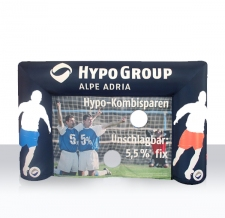 aufblasbare Torschusswand Hypo Group