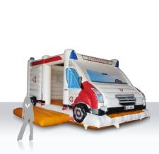 aufblasbare Hüpfburg - Rettungsauto Samariterbund