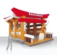 Sonderform Hüpfburg Samurai