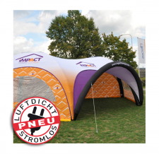 riesiges aufblasbares Zelt luftdicht - Pneu Zelt HEXA impact