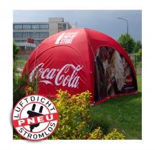 Eventzelt / Promotionzelt / Messezelt - stromlos - Pneu Zelt LITE Coca Cola