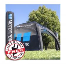 Werbezelt / Messezelt - aufblasbar aber luftdicht - Pneu Zelt LITE motorpoint