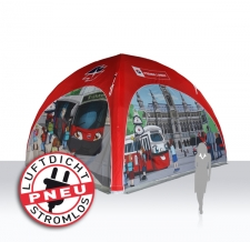 selbstaufblasbare Werbezelte / Messezelte - luftdicht - Pneu Zelt LITE Wiener Linien