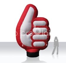 aufblasbare Riesenhand als Blickfang für Messen - Hand Handwerkskammer