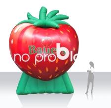 Luftgefülltes Logo - Erdbeere Bauers