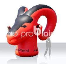 Aufgeblasenes Logo - Dodge Ramhead