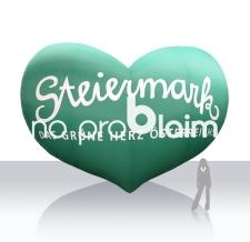 Logo aufblasbar Riesen Herz - Steiermark Herz