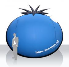 Aufblasbares Logo - Blue Tomato
