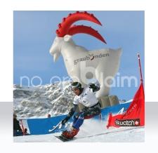 XXL aufblasbare Werbefigur - aufblasbare Figur Steinbock Graubünden