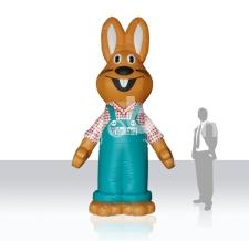 riesige aufblasbare Luftfiguren für Firmen - aufblasbarer Hase Vaillant