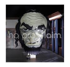 aufblasbare Figur - Riesenkopf für das Theater