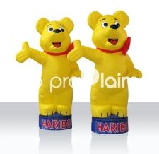 Maskottchen / Figur aufblasbar - Haribo Goldbären mit Sockelsystem