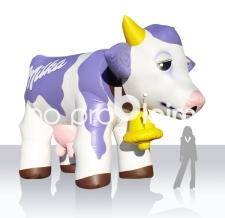 riesige aufblasbare Kuh - Sonderform aufblasbare Milka Kuh