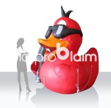 Aufblasbares Maskottchen - SFR - singende Ente