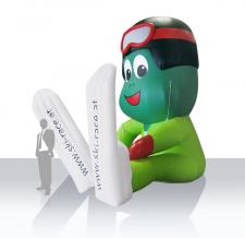 Luftgefülltes Maskottchen - Skischul Froschi
