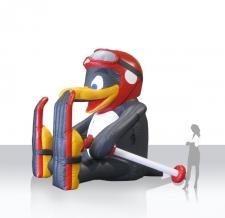 aufblasbare Figur für Skigebiete - auflbasbarer Bobo