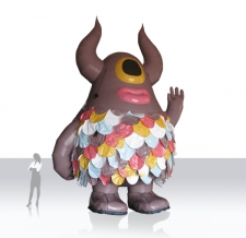 aufblasbare XXL Figur - Maskottchen Higfine