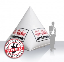 Boje mit Werbung Hit-Radio Antenne
