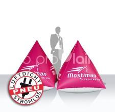 aufblasbare schwimmende Werbeobjekte - Bojen Pyramiden Mostiman