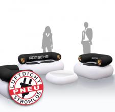 aufblasbare Möbel mit Werbung stromlos - Pneu Chillout Porsche