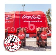 Sonderlösung aufblasbare Coca Cola Dosen (luftdicht) als Theken - Pneu Dosen Coca Cola