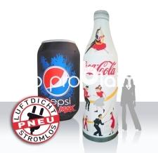 aufblasbare Dose & Flasche - Pneu Dosen & Flaschen Pepsi und Cola