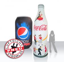 aufblasbare Dose & aufblasbare Flasche - Pneu Dosen & Flaschen Pepsi und Cola