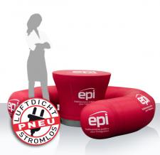 aufblasbare Möbel für Events und Promotion - Pneu Seat epi