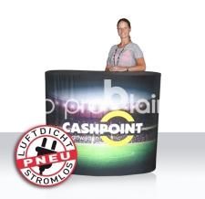 Promotiontheke aufblasbar - Pneu Theke cashpoint