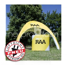 Verkaufstheke aufblasbar luftdicht - Pneu Theke RAA