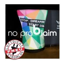 Verkaufstisch/Messetisch aufblasbar - Pneu Tisch stop dreaming