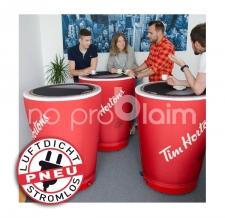 Messetisch bedruckt - Pneu Tisch Tim Hortons