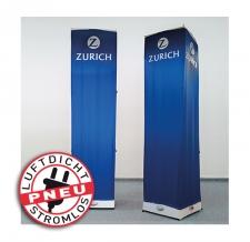 aufblasbare luftdichte eckige Werbesäule - Pneu Tower LITE Zürich
