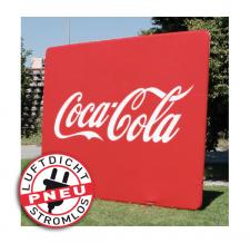 Interviewwand luftdicht - Pneu Wand Coca Cola