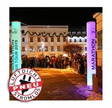 Mobile Litfasssäule - stromlos - Pneu Säule BB Tour 2015