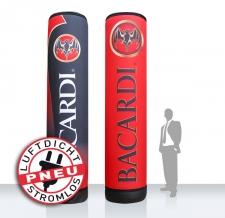 Aufblasbare Werbesäule - luftdicht - Pneu Säule Bacardi