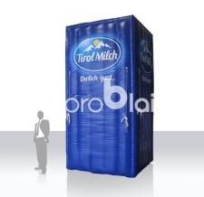 aufblasbare Milchpackung als Eyecatcher - Tirol Milch